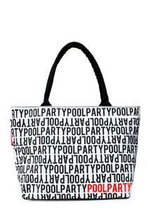Летняя пляжная сумка с принтом Stream White