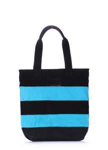 Яркая тканевая сумка Pool Stripe blue-black