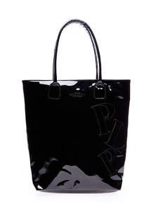 Лаковая женская сумка Pool86 черная