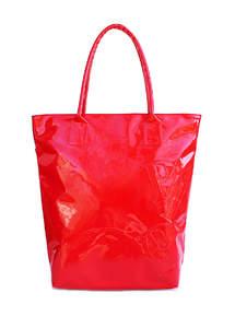 Лаковая женская сумка Pool86 красная