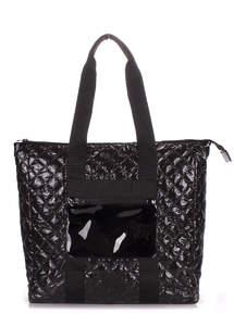 Женская стеганая сумка с лак покрытием Canada