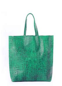 Женская кожаная сумка City Green CROCODILE