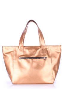 Женская кожзам сумка Disco Gold