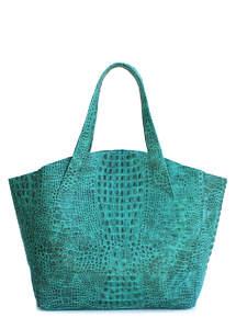 Женская кожаная сумка Fiore CROCODILE Green