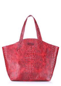 Женская кожаная сумка Fiore CROCODILE Red