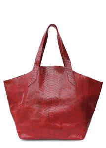 Женская кожаная сумка Fiore SNAKE red