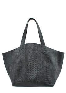 Женская кожаная сумка Fiore CROCODILE Black