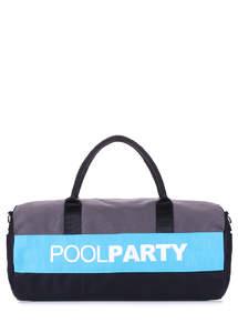 Спортивная котонновая сумка Gymbag grey-blue-black