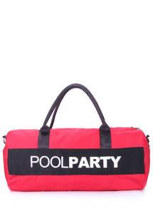 Спортивная котонновая сумка Gymbag red-black