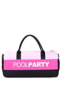 Спортивная котонновая сумка Gymbag rose-pink-black
