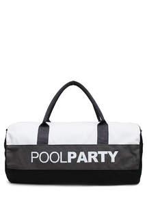 Спортивная котонновая сумка Gymbag white-grey-black