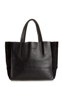 Женская кожаная сумка SOHO black velour
