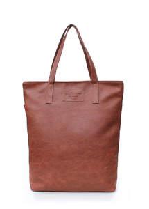 Женская кожзам сумка на плече TULIP brown