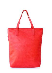 Женская кожзам сумка на плече TULIP red