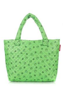 Женская дутая сумка pp1 DUCKS green
