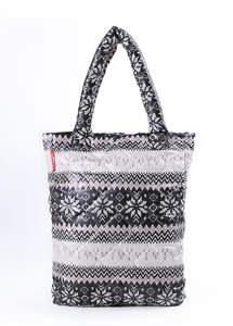Стеганая сумка со скандинавским орнаментом pp10 Grey