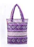 Стеганая сумка со скандинавским орнаментом pp10 Purple