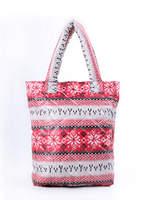 Стеганая сумка со скандинавским орнаментом pp10 Red