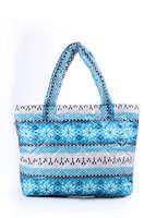 Стеганая сумка со скандинавским орнаментом pp11 Blue