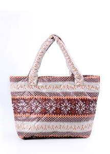 Стеганая сумка со скандинавским орнаментом pp11 Brown