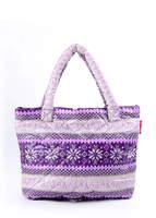 Стеганая сумка со скандинавским орнаментом pp11 Purple