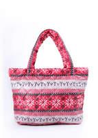 Стеганая сумка со скандинавским орнаментом pp11 Red
