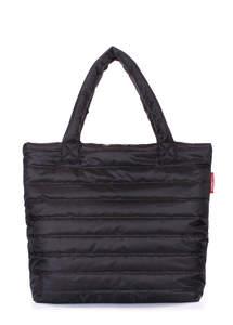 Женская дутая стеганая сумка pp4 black new