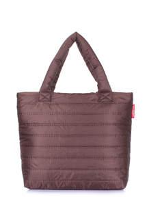Стеганая женская сумка pp4 brown new