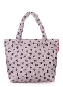 Женская дутая сумка pp4 Snow grey