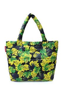 Стеганая дутая сумка pp4 Yellow Leaves
