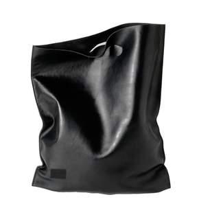 Женский кожаный пакет shopper black