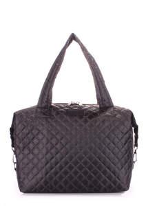 Стеганая дутая сумка TOKYO black