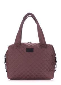 Стеганая дутая сумка TOKYO brown