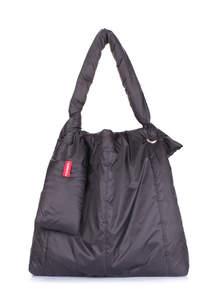 Дутая сумка на плече zefir-black
