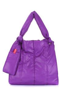 Дутая сумка на плече zefir-violet